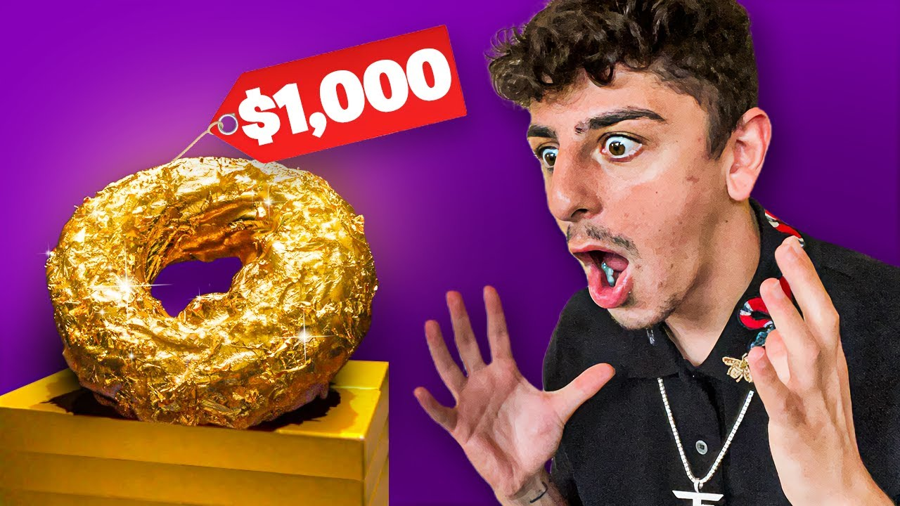 I Ate the Worlds Most EXPENSIVE Donut! (24K GOLD)
