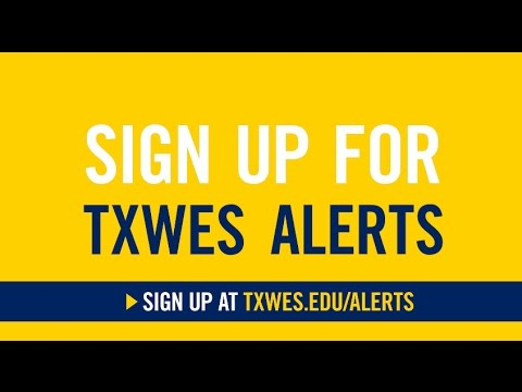 Sign Up for TXWES Alerts