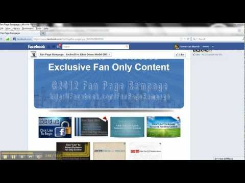 Demo #1 - Facebook Pages w/ Locked For Likes by Fan Page Rampage