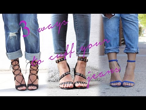 3 Ways To Cuff Your Jeans + Spring/Summer Shoe Collection!