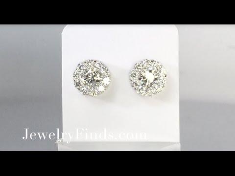 Estate 2ct t.w. Fulfillment Hearts On Fire Diamond Stud Earrings 18k