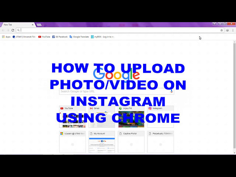 How to upload photo/video on Instagram using chrome PC