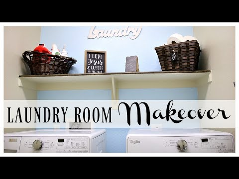EASY BUDGET LAUNDRY ROOM MAKEOVER  | SIMPLE DIY