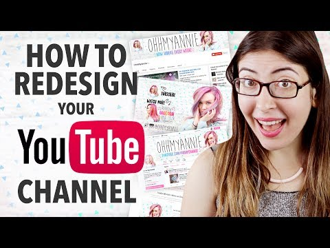 HOW TO REDESIGN YOUR YOUTUBE CHANNEL Graphic Design Tutorial | @karenkavett
