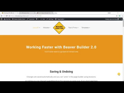 Working Faster with Beaver Builder 2.0