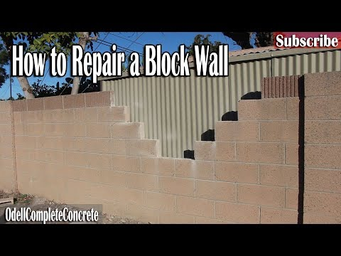 How to Repair a Block Wall Easy Fixes! DIY