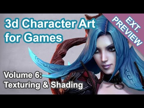 Texturing & Shading - 3d Character Art for Games (40 min.)