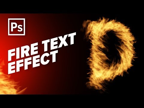 Fire Text Effect - Flame Text Effect - Photoshop CC Tutorial - Urdu / Hindi