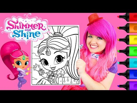 Coloring Shimmer and Shine Shimmer Coloring Page Prismacolor Paint Markers   KiMMi THE CLOWN