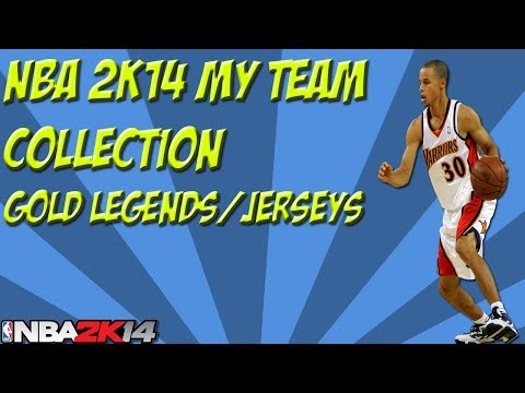 NBA 2K14 My Team Collection - Gold Legends | Starting Lineup | Jerseys/Logos | Pre Road to Playoffs