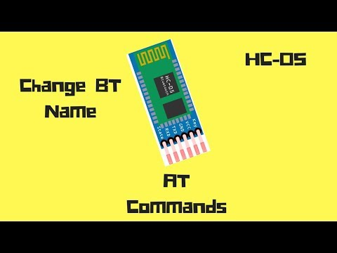 Change Bluetooth Module Name and Password    AT Commands