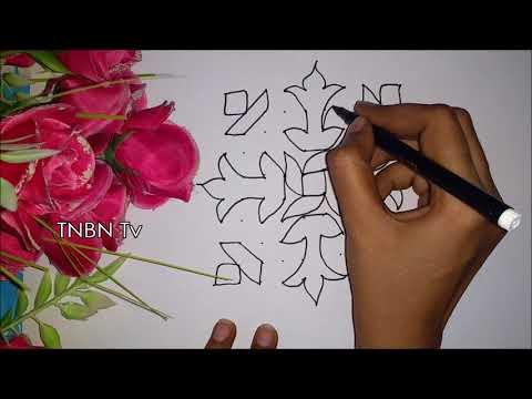 rangoli designs easy and beautiful | diwali muggulu designs with dots 2018, rangoli designs for home