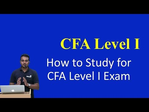 How to Study for CFA Level I Exam