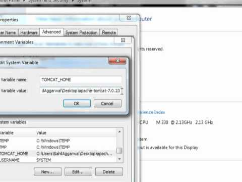 Settings of tomcat and staring using command prompt by SahilAggarwal(GJUcse).wmv