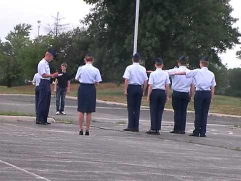 C/2Lt Thomas conducts drill testing at CAP