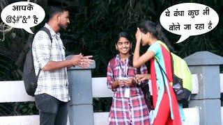 Speaking Another Language To Stranger || Speaking A Made Up Prank || Funny Pranks || Pune