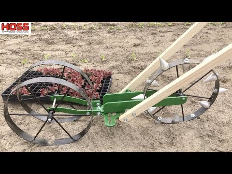 Fast and Easy Transplanting with the Hoss Dibble Wheel Attachment