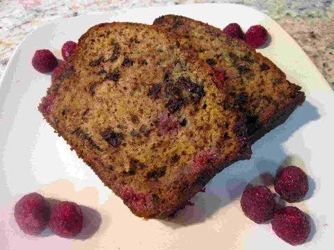 Dark Chocolate Raspberry Banana Bread Recipe ~ A TWIST On Banana Bread