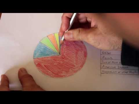 How to make a Pie Graph using a protractor and compass