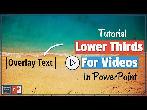 How to Create Beautiful Lower Thirds for Videos in PowerPoint (Text Overlay)