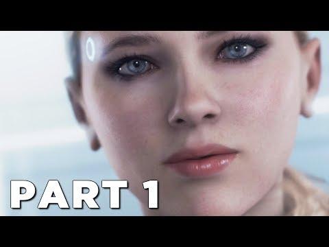 DETROIT BECOME HUMAN Walkthrough Gameplay Part 1 - INTRO (PS4 Pro)