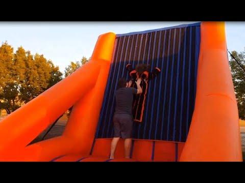 A little fun in the sticky VELCRO Jumper