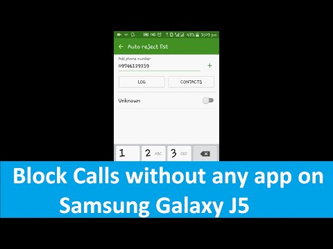 How to block a number in Samsung Galaxy J5 without any app