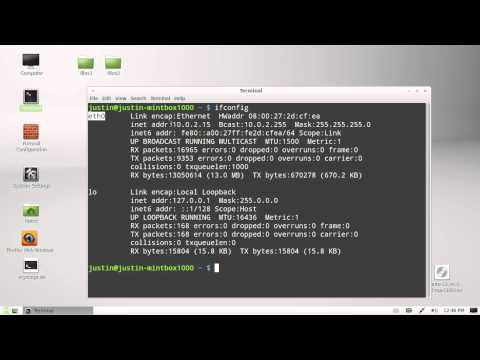 find your internal ip address in linux mint 13