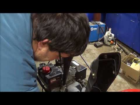 how to change oil on a mtd snowblower or check it