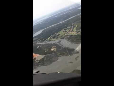 Flying 172 sky-hawk over Kiawah island SC
