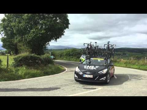 Tour of Britain 2015 Stage 1 Near Llanrwst - Snowdonia in background.