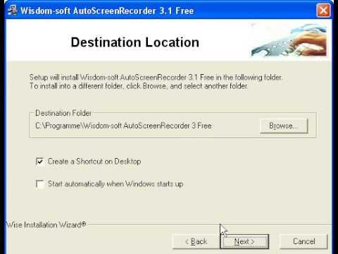AutoScreenRecorder 3 Freeware Installation