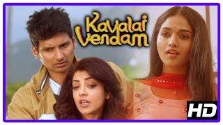 Kavalai Vendam Movie Scenes | Kajal insults Sunaina | Jiiva and Kajal escape from goon | Mayilsamy