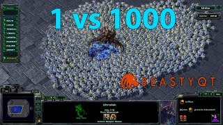 StarCraft 2: ONE Ultralisk VS 1000 Probes!