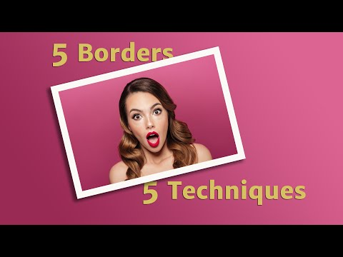 Photoshop CS6 / CC - Creating Photo Borders, Vignettes and Framing Images