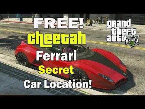 GTA 5- Free Cheetah Car Trick! - Secret Ferrari (Cheetah) Car Location!