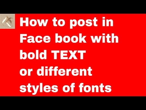 How to post in Face book with bold TEXT or different styles of fonts | Facebook Technics | FB Tricks