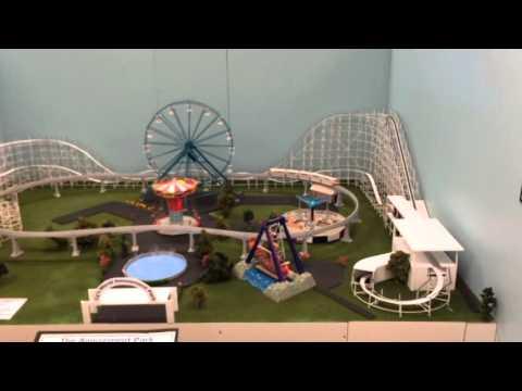 Red White & Zoom Model Roller Coaster