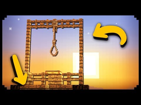 ✔ Minecraft: How to make a Working Gallows