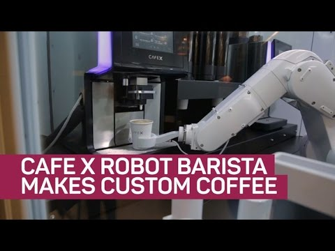 Cafe X robot barista makes custom coffee