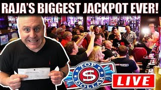 UNBELIEVABLE...RAJA SHATTERS HIS RECORD! 💥BIGGEST JACKPOT HIT LIVE ON YOUTUBE!  💥