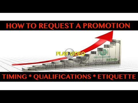 How to Request a Promotion/Raise * Timing * Etiquette * Qualifications * Business Meeting