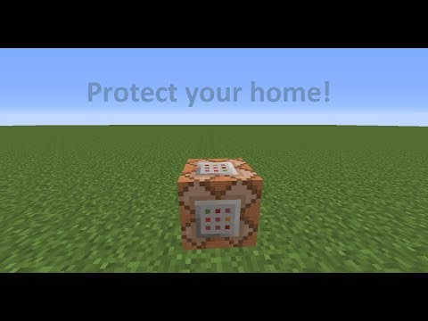 Minecraft 1.7.4 : Command Blocks! Protect house!