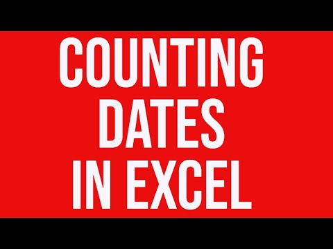 Counting dates in MS Excel