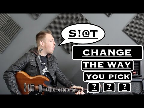 Changing The Way you Hold The Guitar Pick?