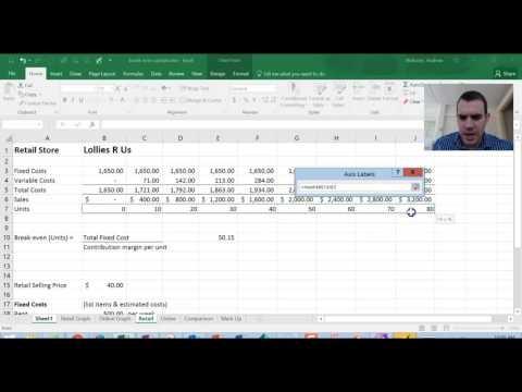 Excel - CVP/Breakeven graph