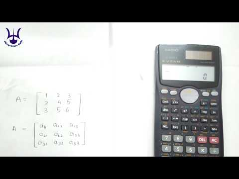 How to find determinant of a matrix by Casio fx-991ms