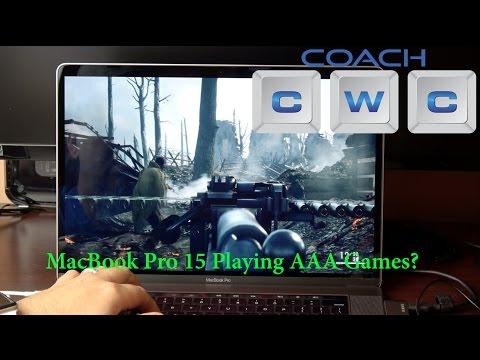 MacBook Pro 15 Touch Bar - Windows 10 Gaming Performance Battlefield 1, Hearthstone, GTA V, & More