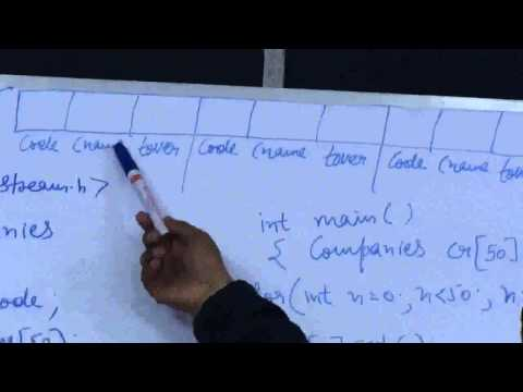 Array Of Objects in C++ , Lecture By Anand Mahajan