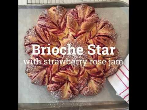 Brioche Star with Strawberry Rose Jam